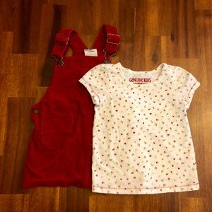 Osh Kosh B'gosh Overall Jumper and Matching Shirt